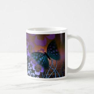 Mariposa floral taza