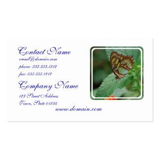 Mariposa fresca plantilla de tarjeta de visita