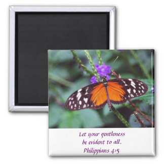 Mariposa - Gentleness Imán Cuadrado