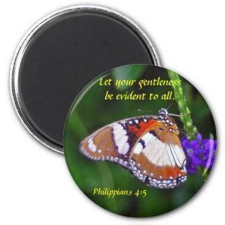 Mariposa - Gentleness Imán Redondo 5 Cm