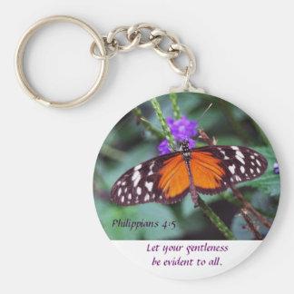 Mariposa - Gentleness Llavero Redondo Tipo Pin