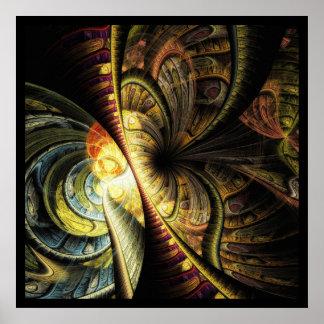 Mariposa geométrica colorida del extracto del poster