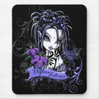 Mariposa gótica púrpura del Faery del tatuaje de Alfombrilla De Raton