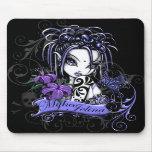 Mariposa gótica púrpura del Faery del tatuaje de S Alfombrilla De Raton