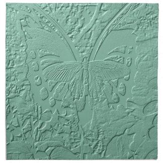 Mariposa grabada en relieve servilletas