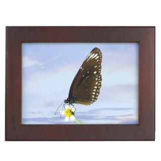 Mariposa gran Eggfly de la luna azul Caja De Recuerdos
