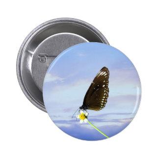 Mariposa gran Eggfly de la luna azul Chapa Redonda 5 Cm
