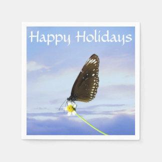 Mariposa gran Eggfly de la luna azul Servilletas Desechables