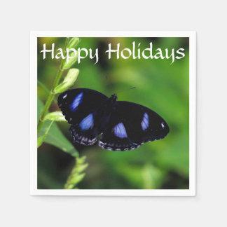 Mariposa gran Eggfly de la luna azul Servilleta Desechable