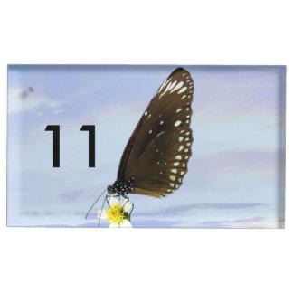 Mariposa gran Eggfly de la luna azul Soporte Para Tarjeta De Mesa