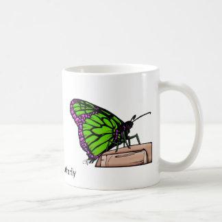 Mariposa-greenPpl, mariposa de Itsy Bitsy Taza