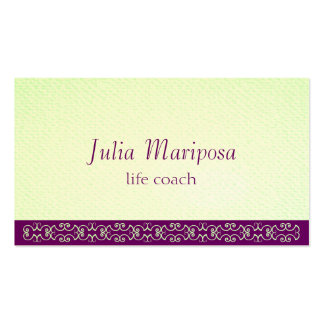 Mariposa Greens Violets Textured Look Business Card