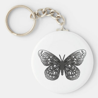 Mariposa gris llaveros