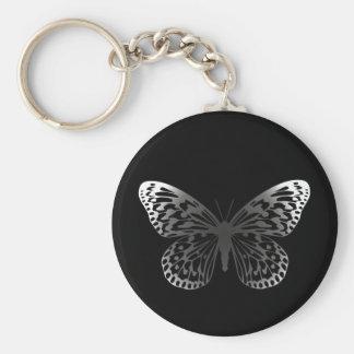 Mariposa gris llaveros personalizados