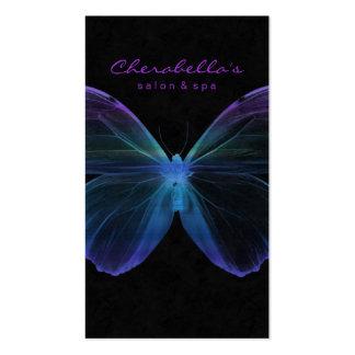 Mariposa Grn púrpura azul del balneario de la tarj Plantillas De Tarjetas De Visita