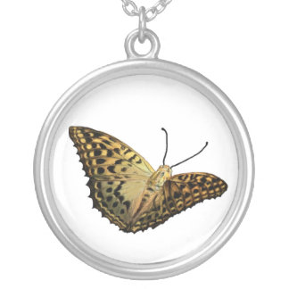 Mariposa halskette collar plateado