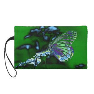Mariposa hermosa en la flor - foto negativa
