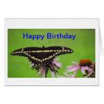 Mariposa hermosa felicitacion