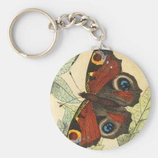 Mariposa hermosa llavero redondo tipo pin