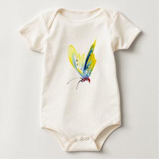 Mariposa hermosa para el bebé mamelucos de bebé