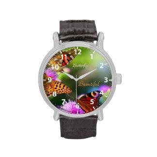 Mariposa hermosa relojes
