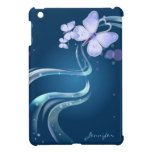 Mariposa hermosa y preciosa con BG azul el   iPad Mini Cárcasas