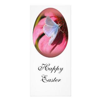 mariposa hilo de araña-coa alas del huevo de Pascu Tarjeta Publicitaria