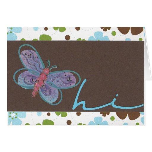 Mariposa hola Notecard Tarjeta Pequeña
