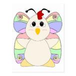 Mariposa Huggable del pollo Tarjeta Postal