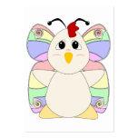 Mariposa Huggable del pollo Tarjetas De Visita