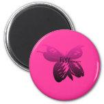 mariposa imán de frigorifico