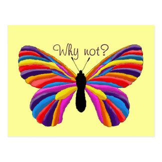 ¿Mariposa imposible - por qué no? Postales