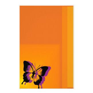 Mariposa inmóvil papelería personalizada