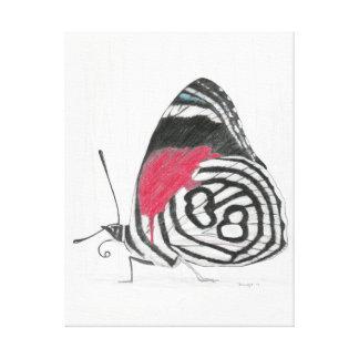 Mariposa Lienzo Envuelto Para Galerías