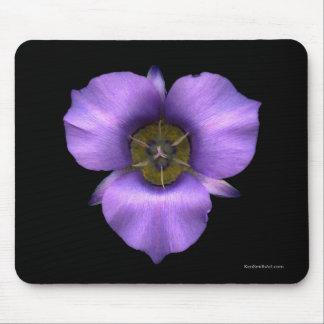 Mariposa Lily Mousepad, Black Mouse Pad