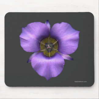 Mariposa Lily Mousepad, Brown Mouse Pad