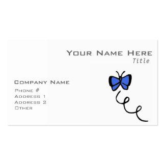 Mariposa linda del azul real plantillas de tarjetas de visita