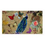 Mariposa linda del pavo real colorido azul del vin tarjetas de visita