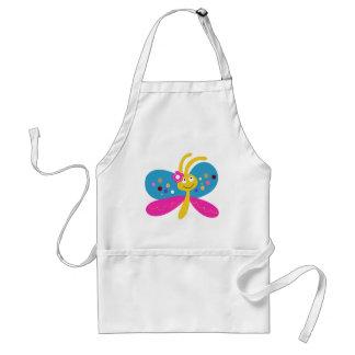 Mariposa linda delantal