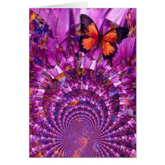Mariposa loca tarjeta de felicitación
