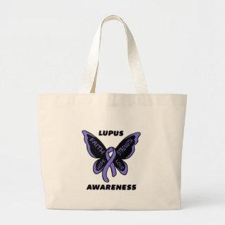 Mariposa/lupus de la conciencia… bolsa tela grande