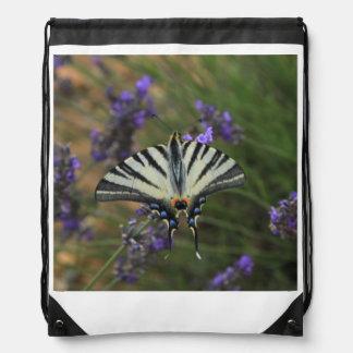 Mariposa - machaon de Papilio en la lavanda Mochilas