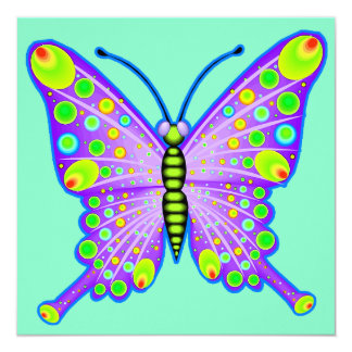 "Mariposa manchada 3 invitación 5.25"" x 5.25"""