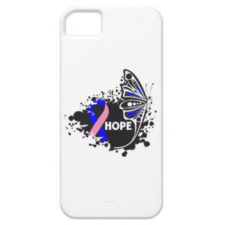 Mariposa masculina del cáncer de pecho de la esper iPhone 5 Case-Mate protector