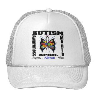 Mariposa - mes de la conciencia del autismo gorras