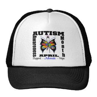 Mariposa - mes de la conciencia del autismo gorro