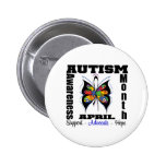 Mariposa - mes de la conciencia del autismo pin
