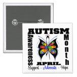 Mariposa - mes de la conciencia del autismo pins