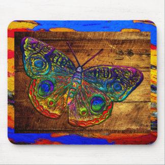 Mariposa metálica del país del arco iris alfombrilla de ratón