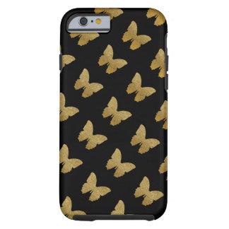mariposa modelada del de oro-color funda de iPhone 6 tough